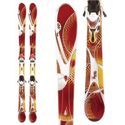 K2 SuperBurnin Skis + Marker ERS 11.0 TC Demo Bindings - Used - Women's 2012