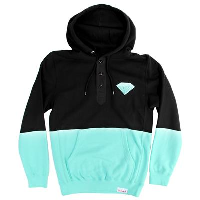 Diamond Supply Co. Emblem Split Henley Hoodie