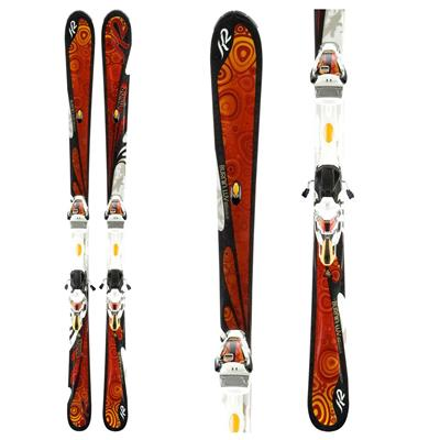 K2 Burnin' Luv Skis + ERS 11.0 TC Demo Bindings - Used - Women's 2011
