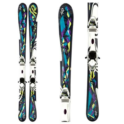 K2 Lotta Luv Skis + ERS 11.0 TC Demo Bindings - Used - Women's 2012