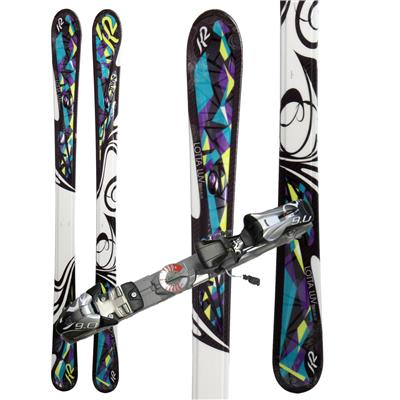 K2 Lotta Luv Skis + Marker Speedpoint 9.0 Demo Bindings - Used - Women's 2010