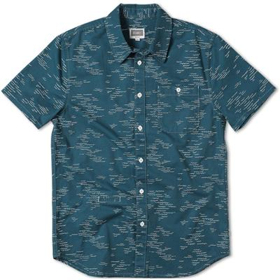Altamont Wavy Short-Sleeve Button-Down Shirt