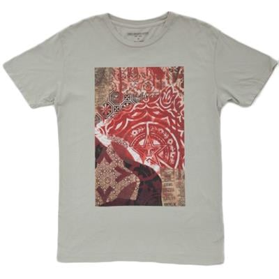 Obey Clothing Newspaper Collage T-Shirt