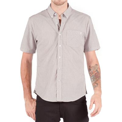 Volcom Weirdoh Mini Check Short-Sleeve Button-Down Shirt