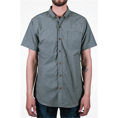 Coalatree Organics Farm Grain Short-Sleeve Button-Down Shirt