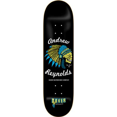 Baker Reynolds Feather Skull 8.0 Skateboard Deck