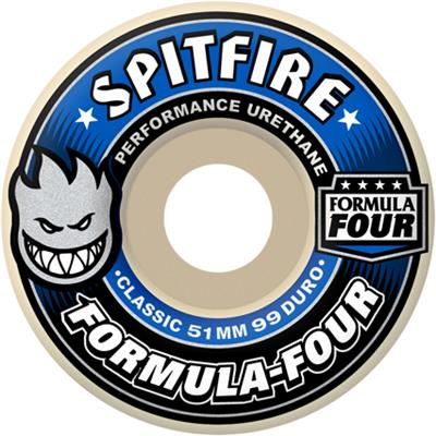 Spitfire Formula Four Classic Shape 99a Skateboard Wheels