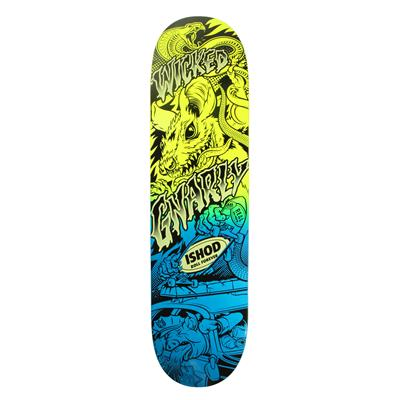 Real Wair Psycho Awesome 2 Neon 8.06 Skateboard Deck