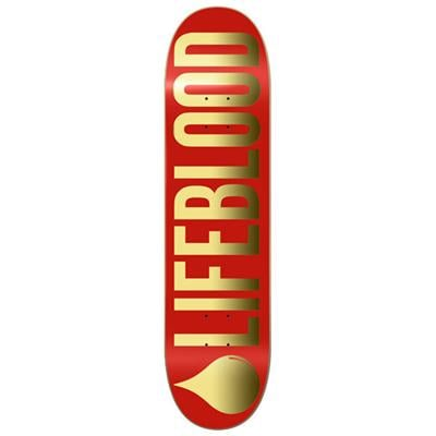 Lifeblood Red & Gold Logo Skateboard Deck
