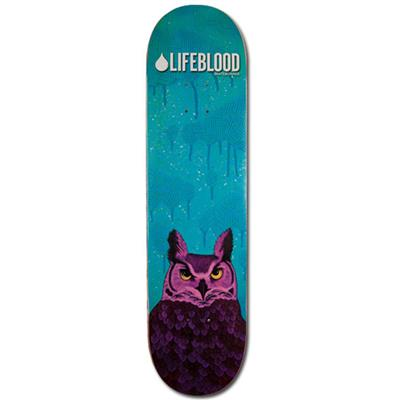 Lifeblood Feathered Owl Skateboard Deck