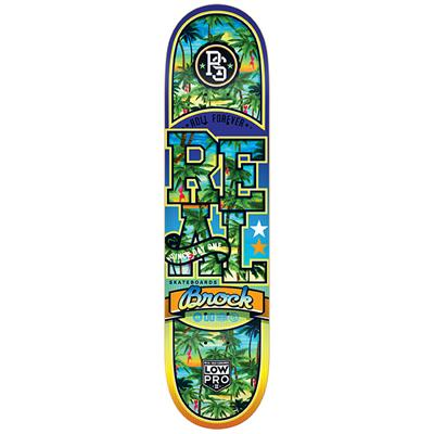 Real Brock Spring Break Low Pro 2 8.25 Skateboard Deck