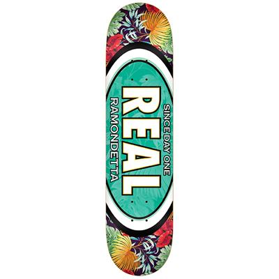 Real Ramondetta Flower Oval 8.5 Skateboard Deck