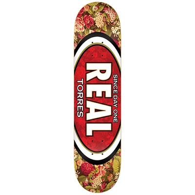 Real Torres Flower Oval 8.06 Skateboard Deck