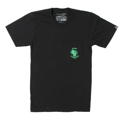 Casual Industrees Stay Chiefed Pocket T-Shirt