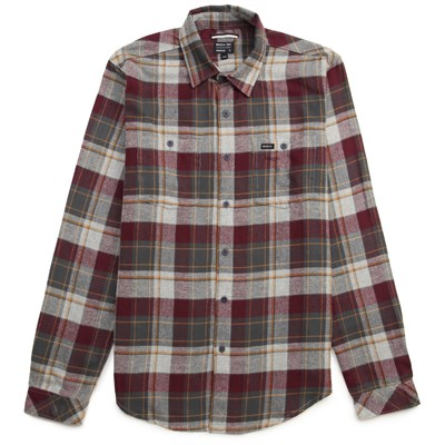 RVCA Hook Long-Sleeve Button-Down Flannel