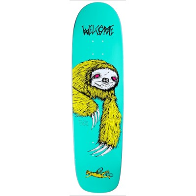 Welcome Sloth 8.5 On Waxing Moon V2 Shape Skateboard Deck