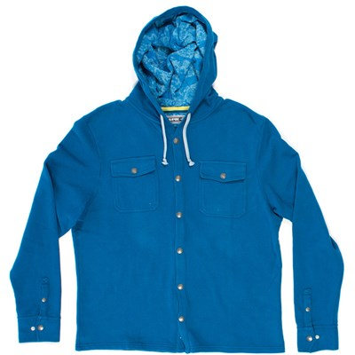 SUPERbrand Burst Hooded Button-Down Fleece
