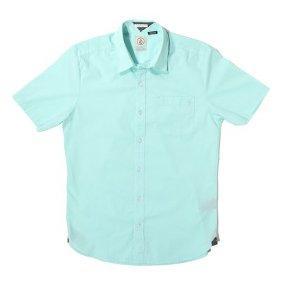 Volcom Weirdoh Solid Short-Sleeve Button-Down Shirt
