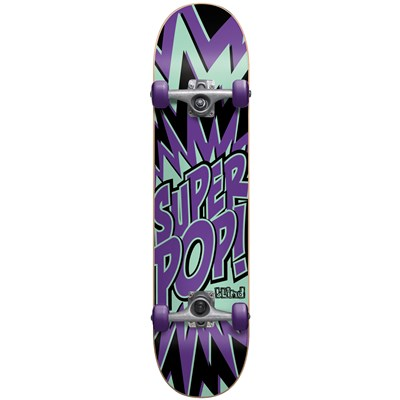 Blind Super Pop Youth Mid 7.4 Skateboard Complete - Kid's