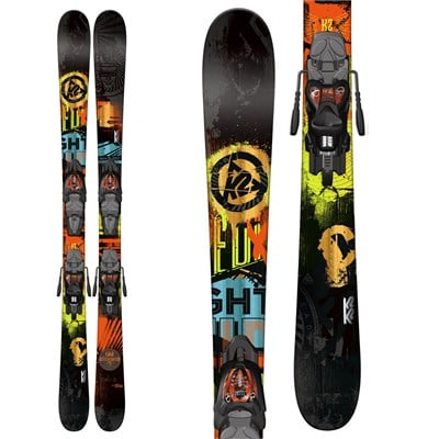 K2 Shreditor 75 Jr Skis + Fastrak2 7 Bindings - Boy's 2015