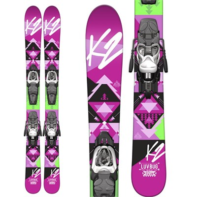 K2 Luv Bug Skis + Fastrak2 4.5 Bindings - Girl's 2015