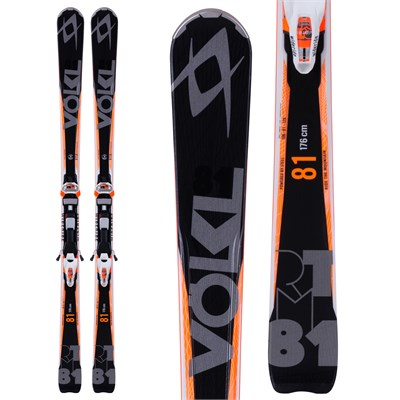 Volkl RTM 81 Skis + iPT Wide Ride 12.0 Bindings 2015