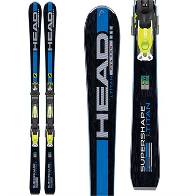 Head iSupershape Titan Skis + PRX 12 Bindings 2015