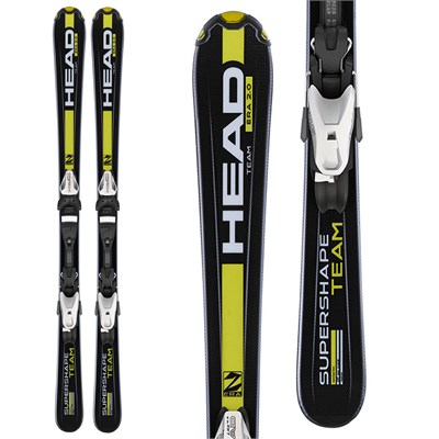 Head Supershape Team LR Skis + LRX 7.5 Bindings - Boy's 2015