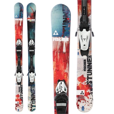 Fischer Stunner Skis + FJ7 AC Jr Rail Bindings - Boy's 2015