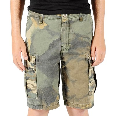 Volcom Slargo Cargo Mixed Camo Shorts (Ages 8-14) - Boy's