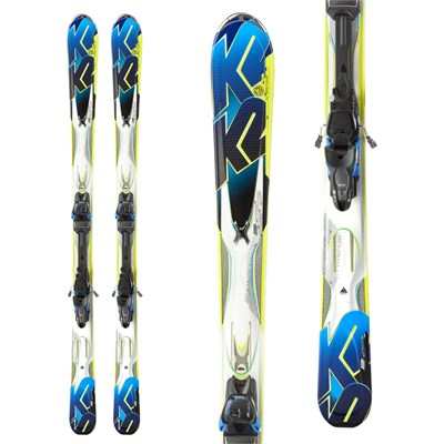 K2 Aftershock Skis + Marker MX 12 Demo Bindings - Used 2013