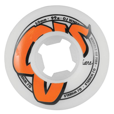 OJ Logo Family White 99a Skateboard Wheels