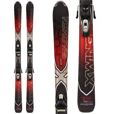 Salomon X Wing Fury Skis + Tyrolia SP 120 Demo Bindings - Used 2010