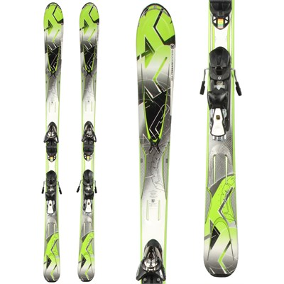K2 A.M.P. Photon Skis + Z12 Demo Bindings - Used 2012