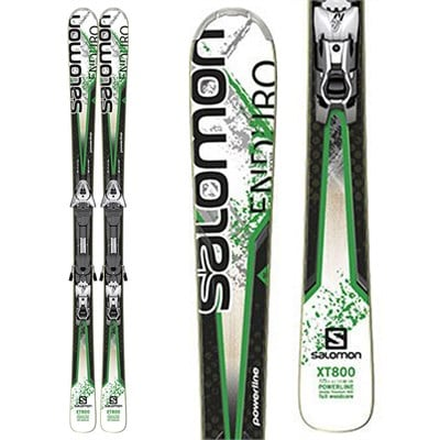 Salomon Enduro XT 800 Skis + Z12 Demo Bindings - Used 2013