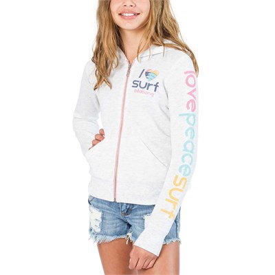 Billabong Candy Waves Zip Hoodie (Ages 8-14) - Girl's