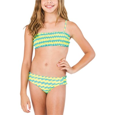 Billabong Wave Bandeau Swim Set (Ages 8-14) - Girl's