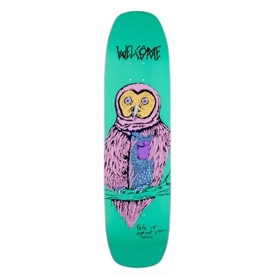 Welcome Fate Owl 8.4 On Wormtail Skateboard Deck