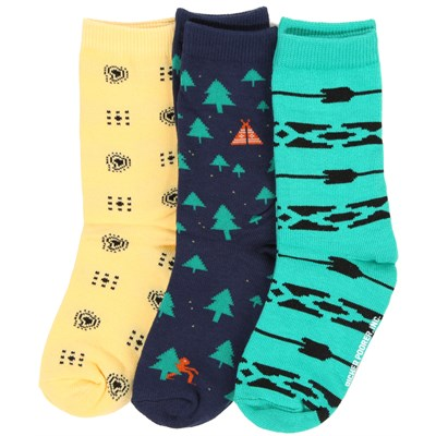 Richer Poorer Green 3 Pack Socks - Boy's