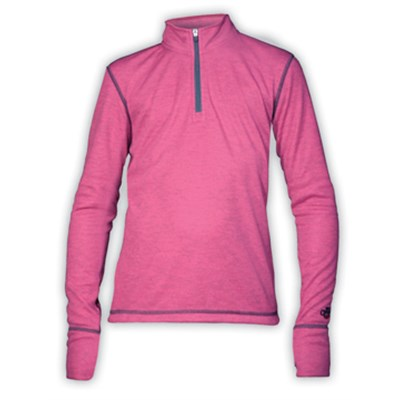 Hot Chillys Geo Solid Zip Top - Girl's