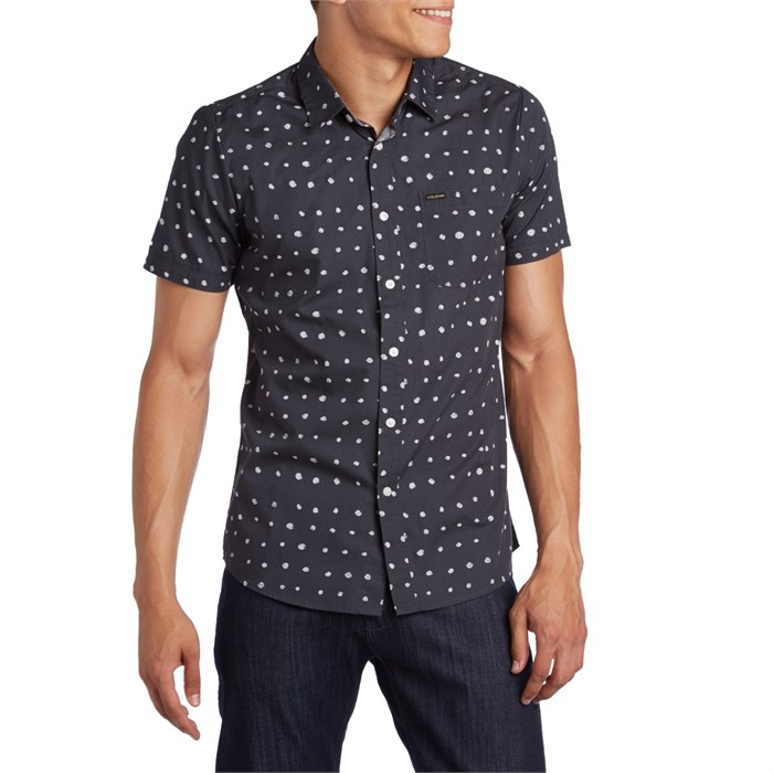 599003944 Volcom - Volka Dot Short-Sleeve Button Down Shirt ...