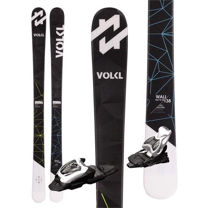 Volkl Wall Jr Skis + M4.5 Fastrak II Bindings