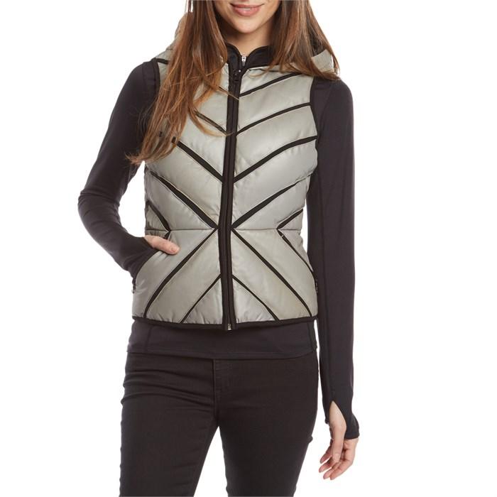 62064a5eb39b Blanc Noir - Mesh Inset Reflective Puffer Vest - Women's ...