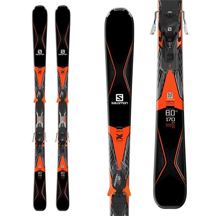 Salomon drive skis xt bindings evo