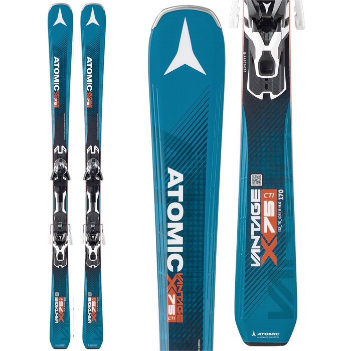 Atomic Vantage X 75 CTI Skis + XT 12 Bindings 2017
