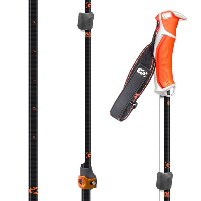 G3 - Via Carbon Adjustable Ski Poles 2019