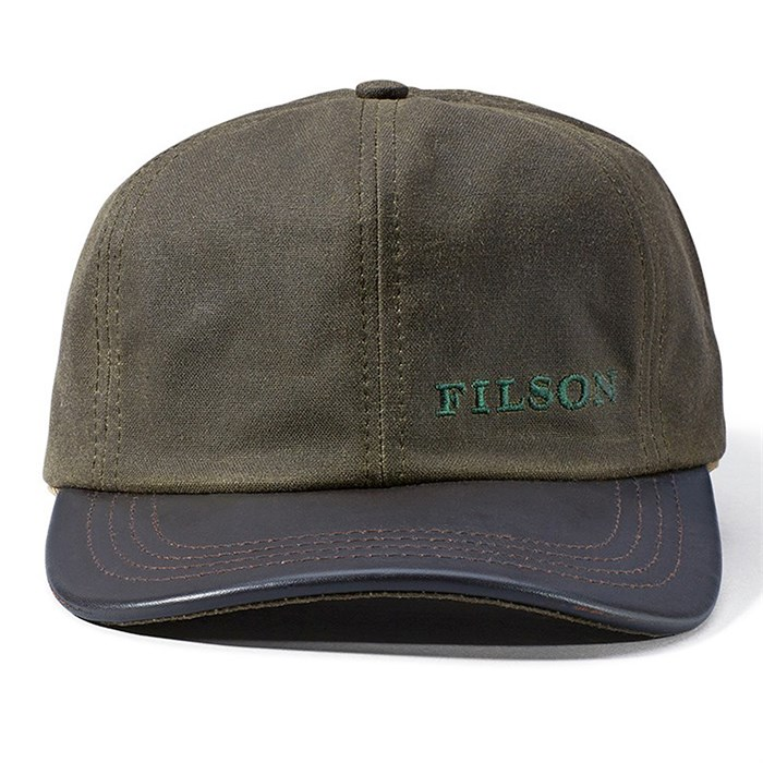 9eefc57d8a6 Filson - Tin Cloth Leather Cap ...