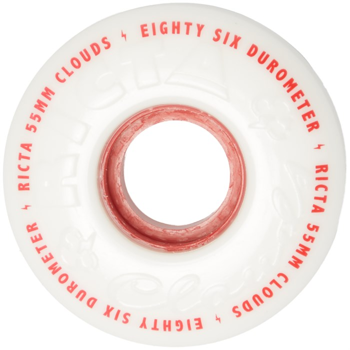 Ricta - Clouds Red 86A Skateboard Wheels