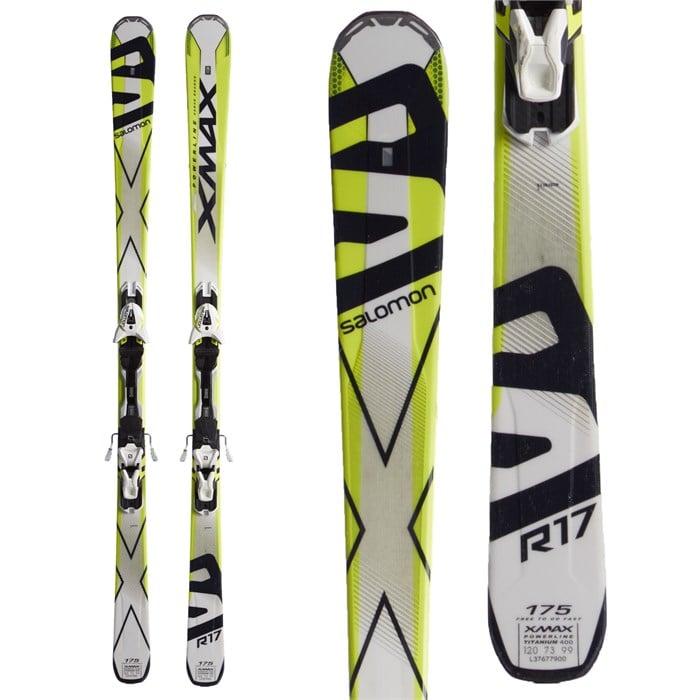 422ee55a8d47 Salomon X-Max Skis + Z12 Demo Bindings 2016 - Used