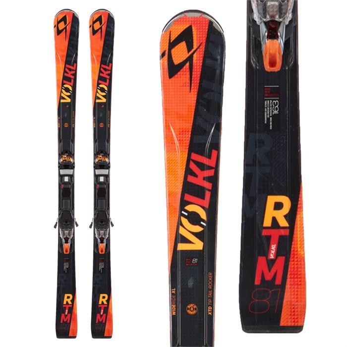 Volkl RTM 81 Skis + IPT Wide Ride 12.0 Bindings 2016